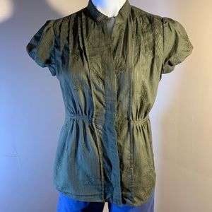 Green Cap Sleeved Blouse